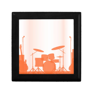 Rock Band Equipment On Stage Gift Box