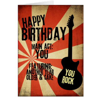 Rock Band Grunge Birthday Greeting Card