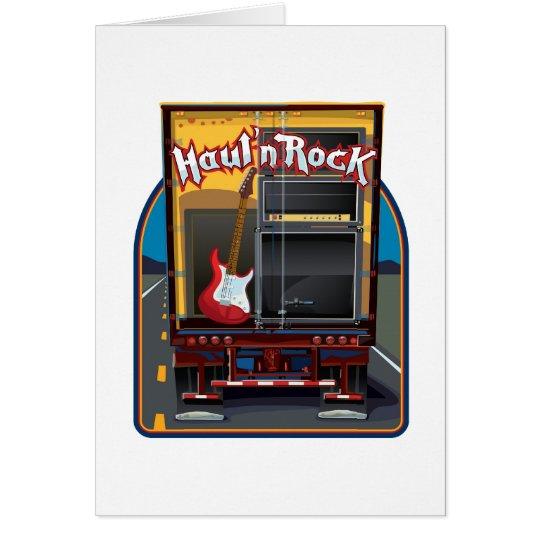 Rock Band Guitar Truck Card