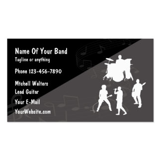 Rock Band Theme Pack Of Standard Business Cards