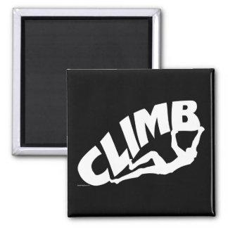 Rock Bouldering Climbing Square Magnet