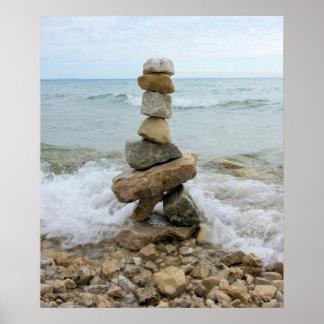 Rock Cairn (Pillar) - Mackinac Island, Michigan Poster