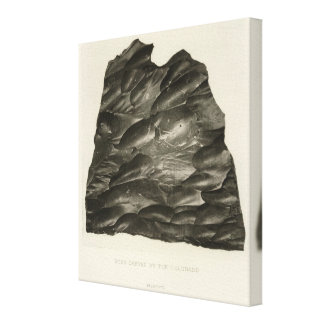 Rock carved by the Colorado Canvas Print