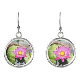Rock Center Water Lilies Drop Earrings