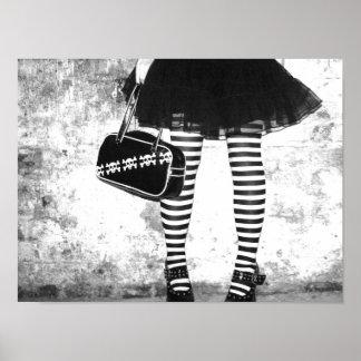 Rock Chic Stripey Poster