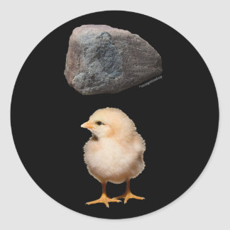 Rock + Chick Classic Round Sticker