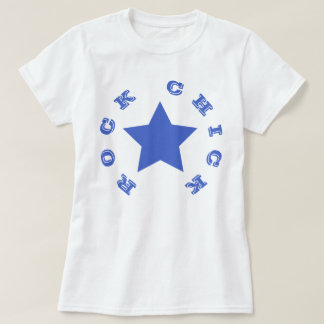 ROCK CHICK | Navy Blue Star Women's Basic T-Shirt