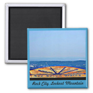 Rock City, Lookout Mountain Square Magnet