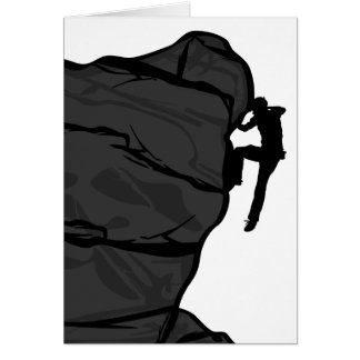 Rock Climber Bouldering Greeting Card