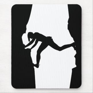 Rock Climber Bouldering Mousepad