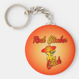 Rock Climber chick #5 Key Chain