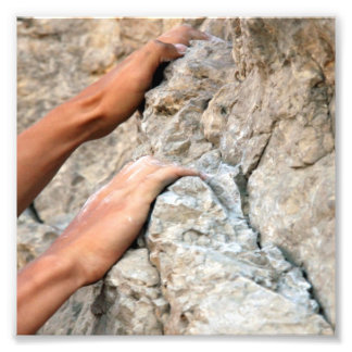 Rock Climber Hands Closeup Photo Print