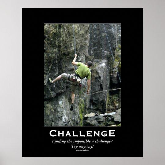 Rock Climber Outdoors Motivational Poster