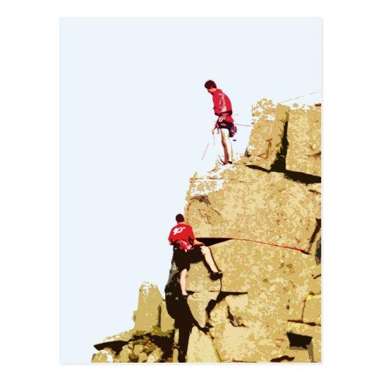 rock climber postcard