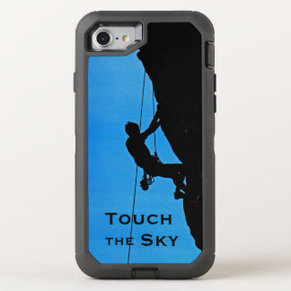Rock Climber Silhouette Touch The Sky OtterBox OtterBox Defender iPhone 7 Case