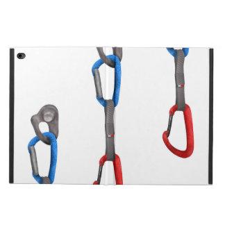 Rock Climbers Hanging Carabiner Illustration