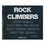 Rock Climbers with Goals Succeed in Denim Poster
