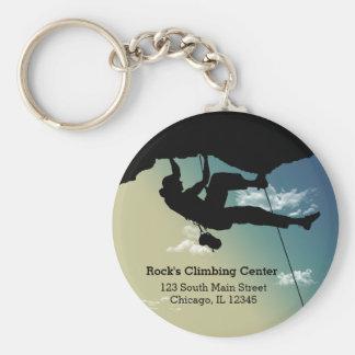 Rock Climbing Basic Round Button Key Ring
