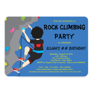 Rock Climbing Birthday Party Card