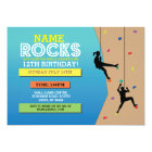 Rock Climbing Birthday Party Climbing Wall Invite