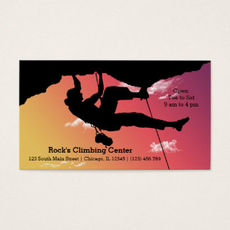 Rock Climbing Business Card