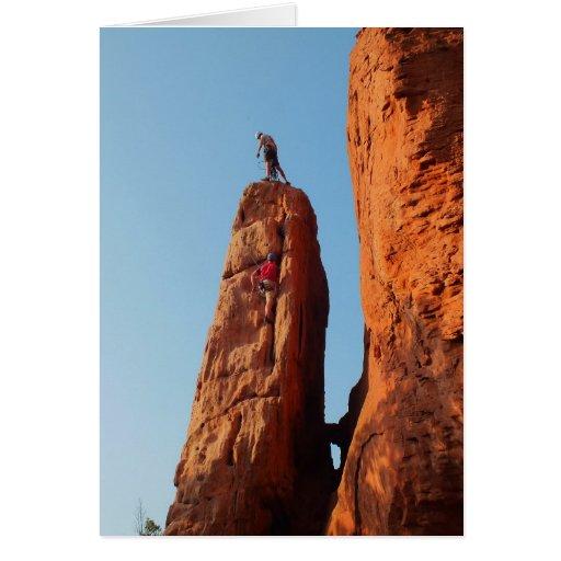 Rock climbing greeting cards
