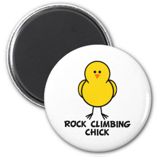 Rock Climbing Chick Fridge Magnets