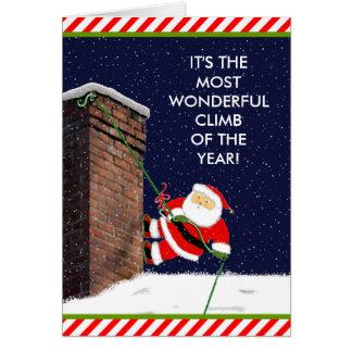 Rock Climbing Christmas Card