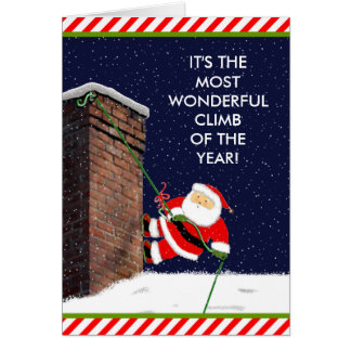 Rock Climbing Christmas holiday cards