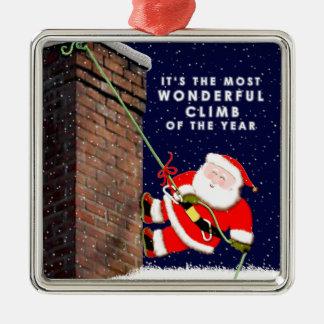 Rock Climbing Christmas Ornament