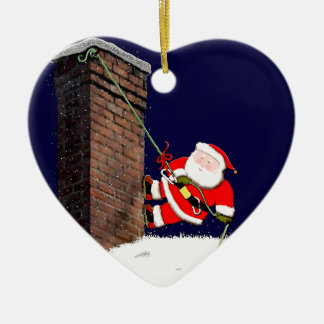rock climbing collectible ceramic heart decoration