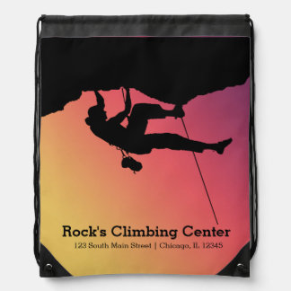 Rock Climbing Drawstring Bag