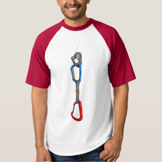 Rock Climbing Hanger with Quick Draw T Shirts