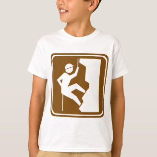 Rock Climbing Highway Sign T-Shirt