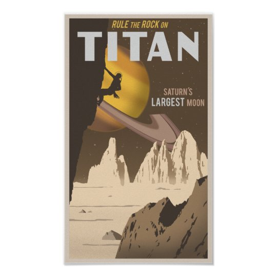 Rock Climbing on Titan, a moon of Saturn