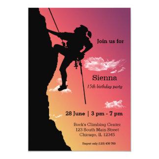 Rock Climbing Party 13 Cm X 18 Cm Invitation Card