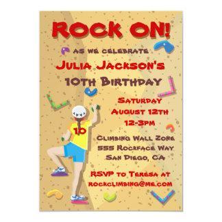 Th Birthday Invitations Announcements Zazzlecouk - Birthday party invitations rock climbing
