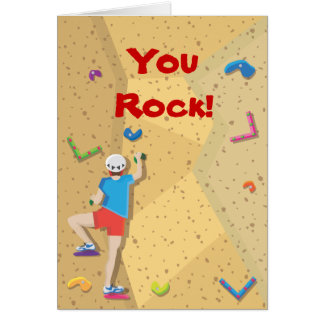 Rock Climbing Party Thank You Notes Greeting Card