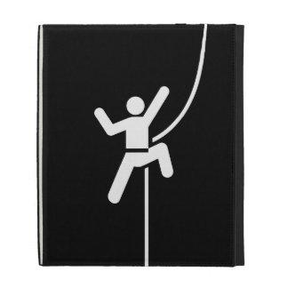 Rock Climbing Pictogram iPad Caseable Folio iPad Folio Covers