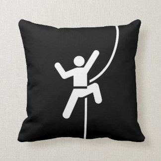 Rock Climbing Pictogram Throw Pillow