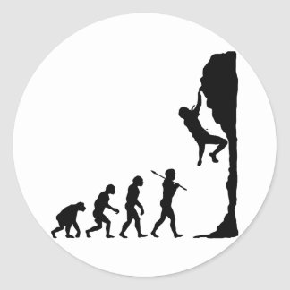 Rock Climbing Round Sticker