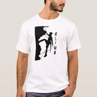Rock Climbing Silhouette Men's Basic T-Shirt