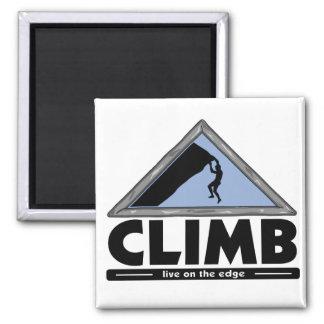 Rock Climbing Square Magnet