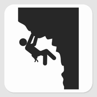 Rock Climbing Square Sticker