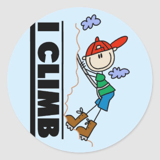 Rock Climbing Tshirts and Gifts Round Sticker
