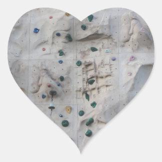 Rock Climbing Wall Heart Sticker