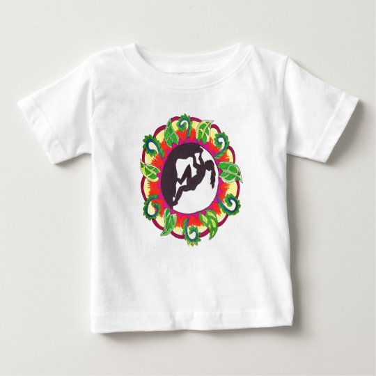 Rock Climbing Zen Girl Baby T-Shirt