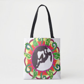 Rock Climbing Zen Girl Tote Bag
