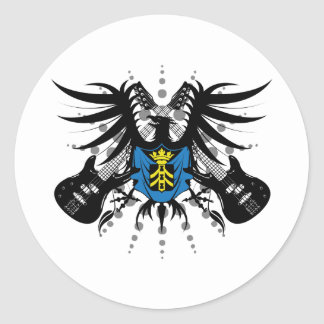 Rock Coat of Arms Round Sticker