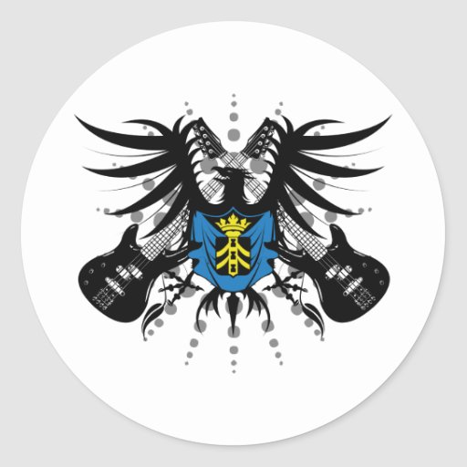Rock Coat of Arms Stickers